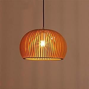 LUCKY CLOVER-AChandelier Ceiling Pendant Light Lampshade Natural Bamboo Handmade Cap Shape Lantern Housewarming Gift Decoration , 3520