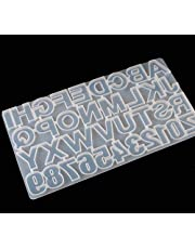 Resin Mold, Phinicco Silicone Molds for Resin Number & Alphabet Mold Keychain Jewelry Casting Mold Letter Jewelry Making Mold DIY Craft Casting Set Resin Kit [Newest Version] FDA Certification
