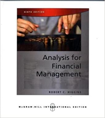 Analysis for financial management (9th edition), books.