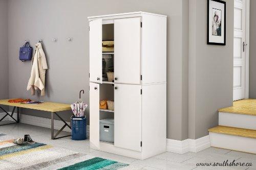 South Shore Morgan 4-Door Storage Cabinet, Pure White