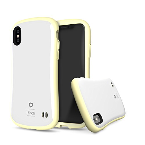 - iFace [First Class Pastel Border Series] Hard Case with Embedded Magnetic Plate [Car Mount Compatible] [Military Drop Test Certified] for Apple iPhone X, XS - Yellow