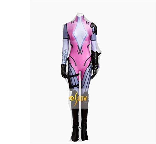 [Overwatch Widowmaker Emily Rakova Purple Jumpsuits cosplay costume] (Makers Mark Costume)