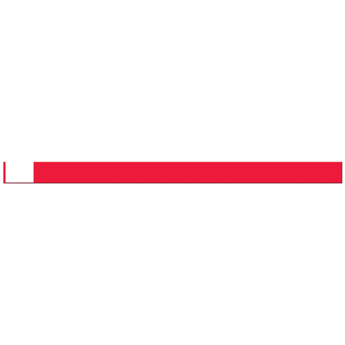 TABBAND WBW710-25R1 Write-On Wristband, Poly Adhesive Closure, 5/8'' x 10'', Adult, Red (Pack of 500)