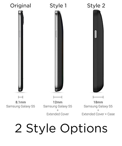 PowerBear Samsung Galaxy S5 Extended Battery 7800mAh Back Cover Protective case Up to 275X Extra Battery vitality Black 24 Month assurance television screen Protector included Cases