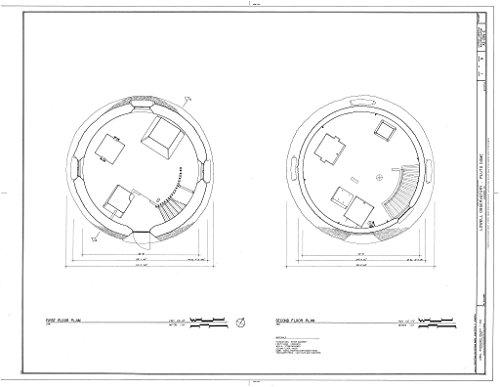 historic pictoric Blueprint Diagram HABS ARIZ,3-FLAG,1C-  -