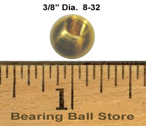230 3/8'' 8-32 brass 8-32 brass balls drilled tapped lamp finials by Bearing Ball Store