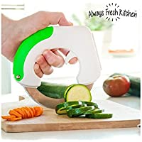Always Fresh IG112044 Kitchen Chop & Roll Couteau, acier inoxydable, blanc, 3 x 15 x 14,5 cm