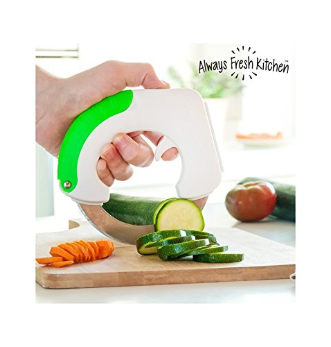 Always Fresh Kitchen Chop & Roll Knife, Stainless Steel, White, 3X 15X 14.5Cm InnovaGoods IG112044