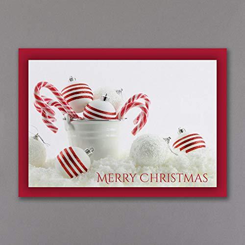 625 Mint - 625pk Peppermint Christmas - Christmas Card-Christmas Cards