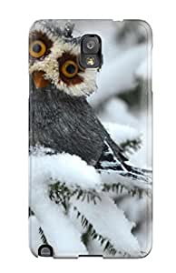 New Style 4780957K87570625 For Galaxy Note 3 Fashion Design Funny Owl Case
