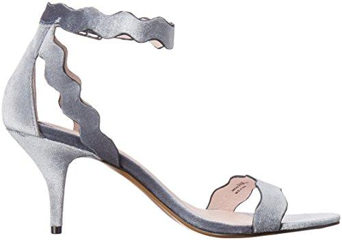 Velluto Cinese In Velluto Blu Acciaio Sandalo Da Donna