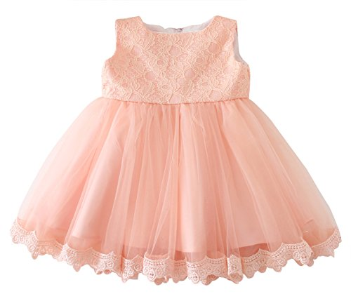 Happy Cherry Princess Dress Baby Girl Wedding Pageant Tulle Bowknot Tutu Skirt Size 12 - Pink