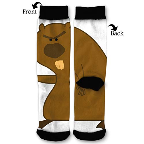 Angry Beavers Casual Cool 3D Printed Crazy Funny Colorful Fancy Novelty Graphic Crew Tube Socks -