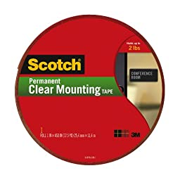 Scotch Clear Mounting Tape, 1-inch x 450-inches, 1-Roll (410-LONGDC)