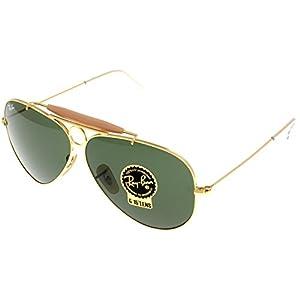 Ray Ban Sunglasses Shooter Aviator Unisex Browbar Enhanced RB3138 001