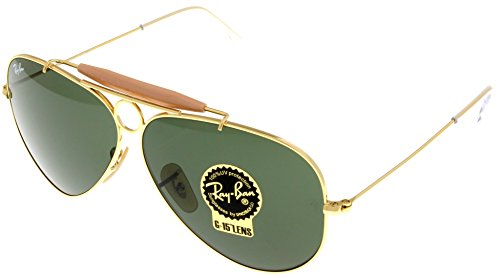 Ray Ban Sunglasses Shooter Aviator Unisex Browbar Enhanced RB3138 - Ray Ban Rb3138