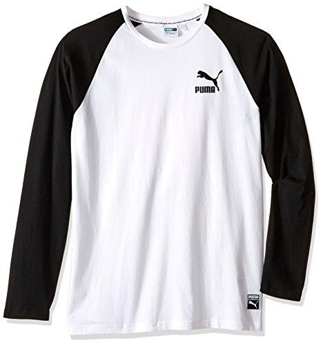 PUMA Men's Archive Logo Raglan Long Sleeve, Puma White, Small