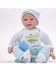 Reborn Babies Baby Doll Doll Small Baby Doll Like Real Baby Reborn Baby Silicona Accesorios para muñecas realistas Material de silicona con diferentes accesorios para bebés 55cm