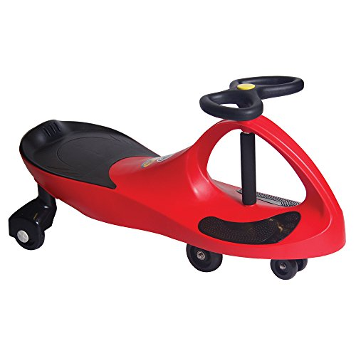 The Original PlasmaCar by PlaSmart – Red – Ride On Toy, Ages 3 yrs and Up, No batteries, gears, or pedals, Twist, Turn, Wiggle for endless (Red Pedal Car)