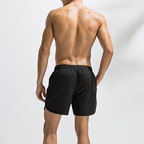 Cortos Boxer Beach Pantalones ba Traje Surf Deportes Dry o Hombres de Quick Negro qwBPS1