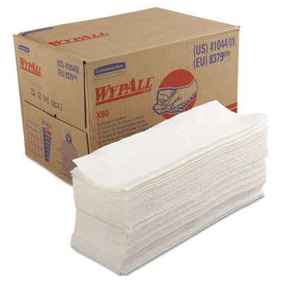 White Box Wipers (KCC41044 X80 Wipers, BRAG Box, 12 1/2 x 16 4/5, White, 160/Box)