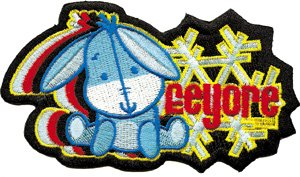 Disney Cuties Winnie the Pooh Eeyore Character Embroidered Iron On Movie Patch DS-106 (Eeyore Character)