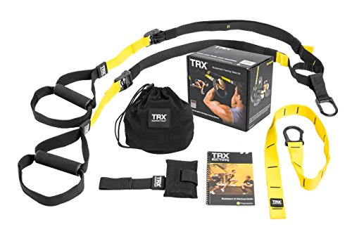 TRX Training - Suspension Trainer Basic Kit + Door Anchor, Complete Full Body Workouts Kit for Home and on the - Resistance Trainer Safety