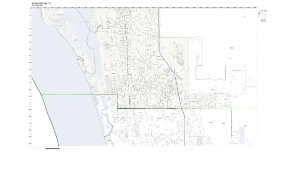 Amazon.com: ZIP Code Wall Map of Bonita Springs, FL ZIP Code Map