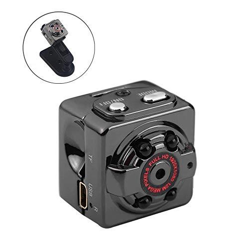 Jumedy Cámara Micro con 4 Luces infrarrojas - Cámara espía HD de cámara en casa HD 1920 * 1080P (Tamaño : with Memory...
