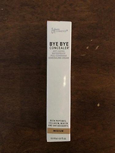 It Cosmetics MEDIUM Bye Bye Anti-Aging Waterproof Full-Coverage Concealer - 5 mL / 0.17 fl oz - NIB