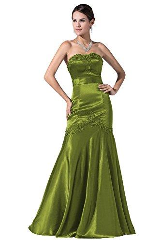 YiYaDawn -  Vestito  - linea ad a - Donna verde oliva 44