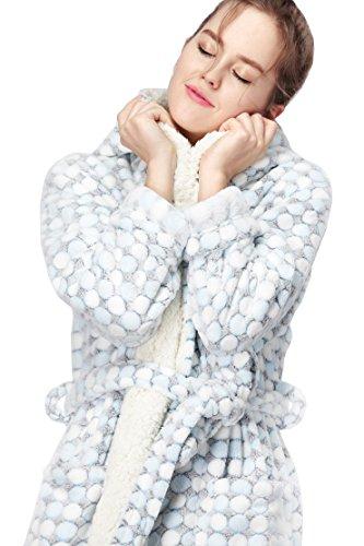 Vestaglia da donna in pile con cappuccio