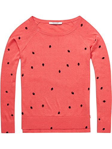 Scotch & Soda Damen Pullover Long Sleeve Pull with Various Allover Prints Mehrfarbig (Combo C 19)