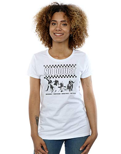 (No Doubt Women's Ska Band T-Shirt White Large)