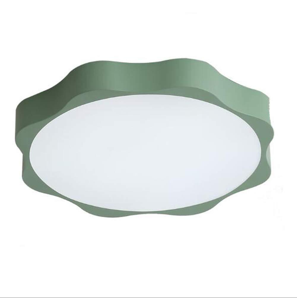 OOFAY LIGHT LED Deckenleuchte, Acryl Lampenschirm Kinderzimmer Deckenleuchte (Zweifarbige Licht),Grün,40Cm