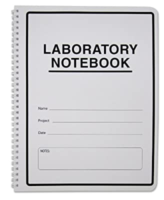 BookFactory® Carbonless Lab Notebook (Scientific Grid Format), 25 Sets of Pages - 50 Sheets Total - Duplicator [Wire-O Bound] (LAB-WTG-Size-Color-Main)