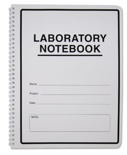 BookFactory Carbonless Lab Notebook (Scientific Grid Format) - 100 Sets of Pages - 200 Sheets Total - Laboratory Notebook Duplicator [Wire-O Bound] (LAB-100-WTG-D)