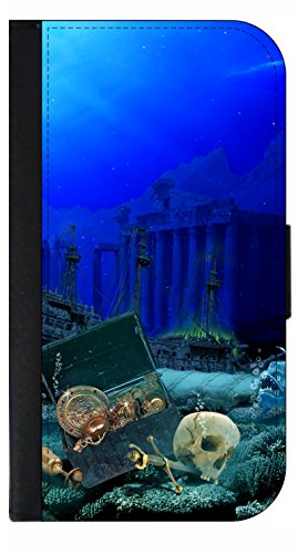 Under the Sea - Wallet Style Flip Phone Case Compatible with s3/s4/s5/s6/s6edge/s7/s7edge/s8/s8Plus - Select Your Compatible Phone Model
