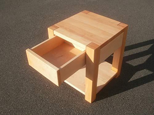 Nachttisch Holztisch Beistelltisch Erle massiv. Maße : 40x40x55cm ...