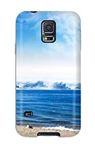 Christmas Gifts 9588680K52418745 New Style Sea Shore Dreamy World Premium Tpu Cover Case For Galaxy S5