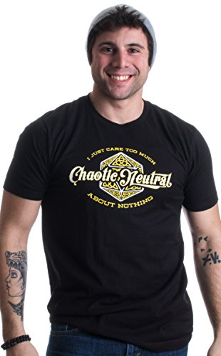 Chaotic Neutral: I Care Too Much About Nothing | RPG Alignment Unisex T-shirt