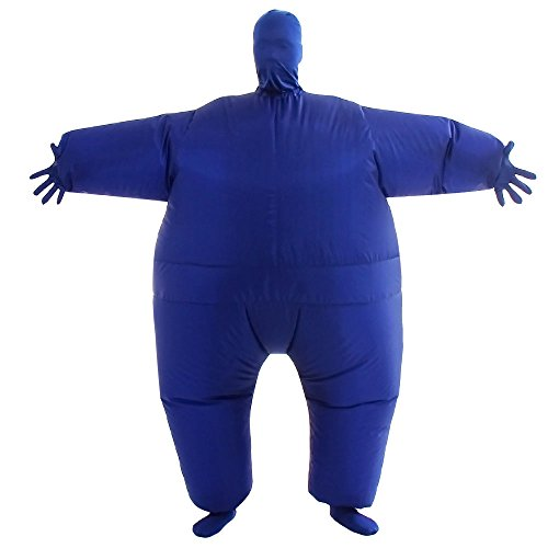 Funny Inflatable Costumes (VOCOO Lnflatable Costumes Adult Size Inflatable Body Suits Pants (blue))