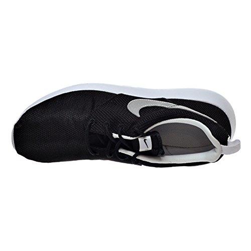 Roshe Sneakers Black top Nike metallic Hi white Silver Run Fille fIcnynKqdF