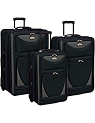 Travelers Club 3 Piece Expandable and Highly Durable Sky-View Collection Luggage Set