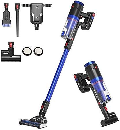 Vistefly Aspiradora sin Cable Potente 23.6kPa,250W Motor sin escobillas,batería Ion-Litio extraíble y Recargable 50 mins,Aspiradora Escoba Sin Cables: Amazon.es: Hogar