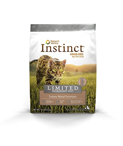 Nature's Variety Instinct Limited Ingredient Diet Grain Free Turkey Meal Formula Natural Dry Cat Food by, 12.1 lb. Bag