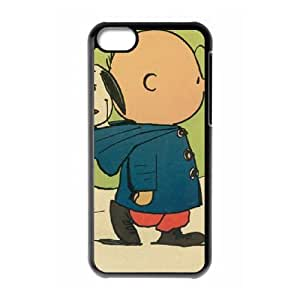 Charlie Brown And Snoopy iPhone 5c Cell Phone Case Black gift pp001_9425369