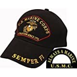 U.S. Marine Corps A Tradition Since 1775 Semper Fi Hat Black