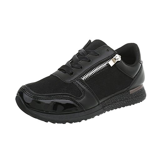 58 Ital design Low Espadrilles Chaussures D Noir Sneakers Compensé Mode Femme Baskets 4wCqZ1