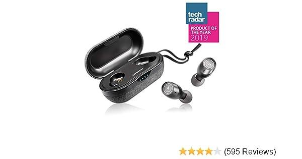 LYPERTEK TEVI - True Wireless Earbuds, Bluetooth 5.0 Stereo Hi-Fi Sound Wireless Earphones, IPX7 Waterproof, Upto 70 Hours Playtime, in-Ear Bluetooth Earphones with Charging Case
